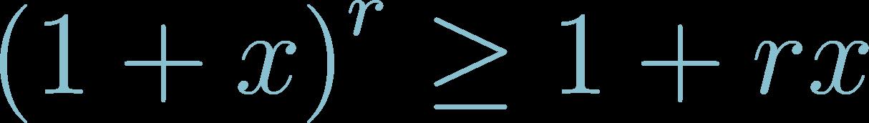 Formula of Bernoulli Inequality