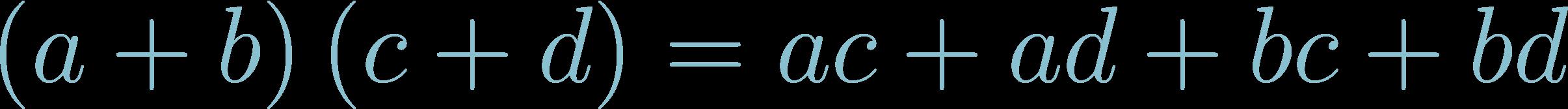 Formula Multiply Binomial (FOIL method)