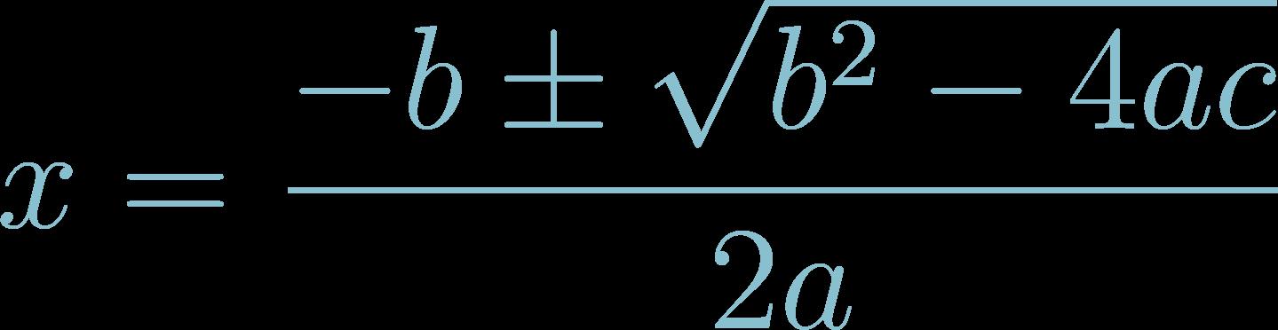 Formula of Quadratic Equation