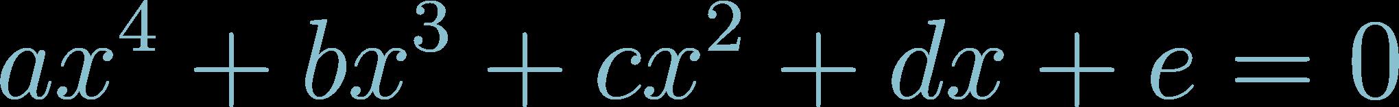 Formula of Quartic Equation
