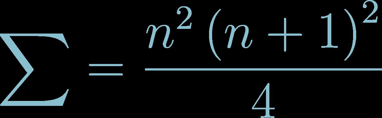 Formula of Sum of Consecutive Cubes