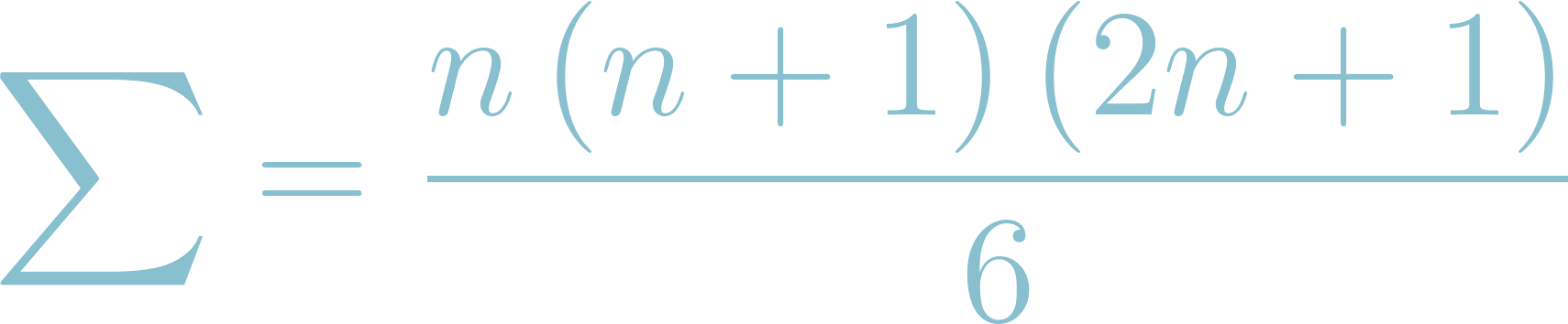 Formula of Sum of Consecutive Squares