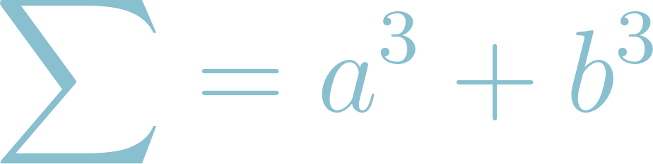 Formula of Sum of Two Cubes