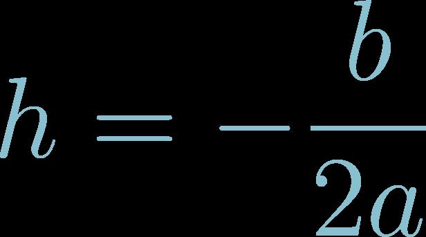 Formula of Vertex h of Quadratic Equations